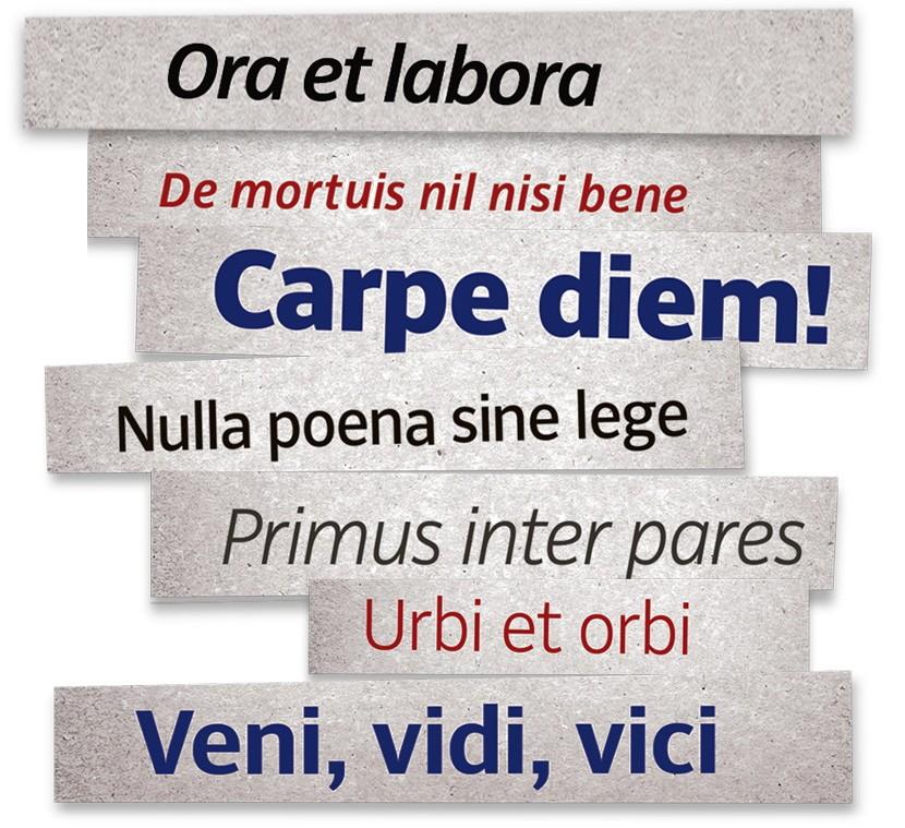 Von Anfang an in Latein