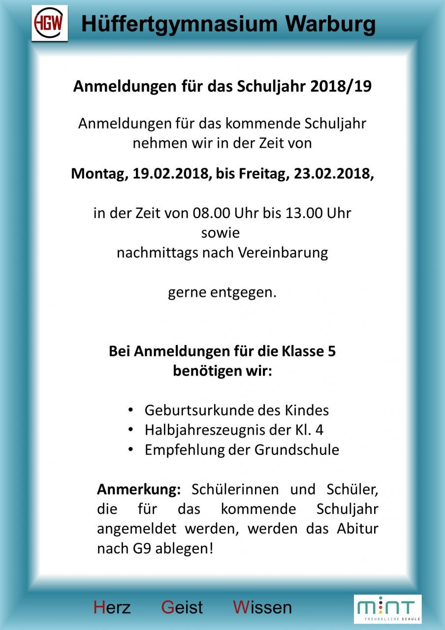Formulare – Hüffertgymnasium