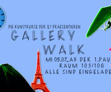 Gallery Walk der Kunstkurse