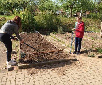 Das Gartenjahr 2017, ein Bericht der Garten-AG der Inklusionsschülerinnen