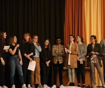 Schülervollversammlung am Hüffertgymnasium